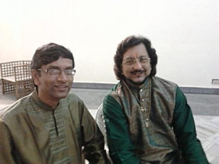 Sarathi with tabla maestro Pt. Kumar Bose.