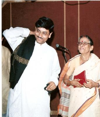 With Mother Shefali chatterjee